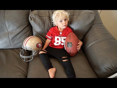3 Year Old Tydus ARMCHAIR QUARTERBACK!!