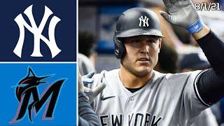 New York Yankees @ Miami Marlins | Game Highlights | 8/1/21