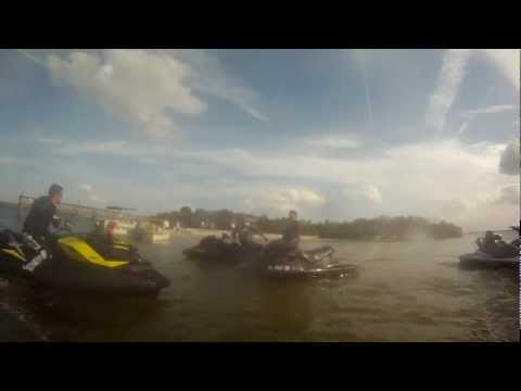 40 Mile 14 Ski Tampa Ride on 2012 Seadoo RXP-X 260