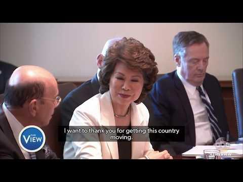 Trump's Cabinet Members Gush At Meeting | The View