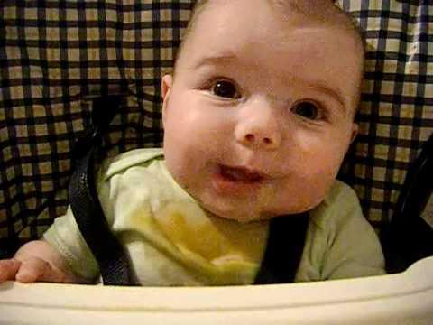 5 month old baby talking gibberish
