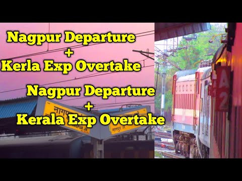 Chennai Duronto Kerla Express Overtake and Nagpur Depature