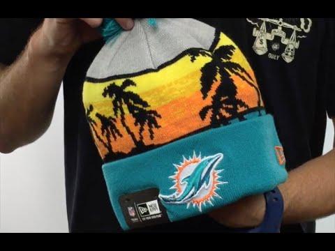 d38fbc23b8ff8 Dolphins  WINTER BEACHIN  Knit Beanie Hat by New Era - YouTube
