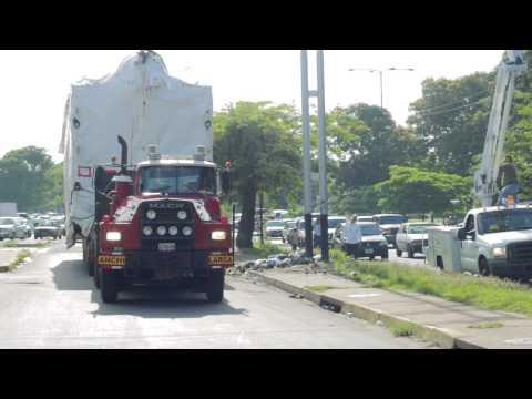Transporte Caldera Planta de papel PULPACA, Macapaima, Venezuela