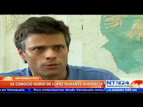 Leopoldo López ratifica su inocencia a través de un audio publicado en Twitter