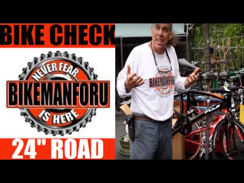 "Kids Road Bike Check - 24"" Fuji Absolute Sport Fitness - BikemanforU"