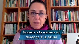 La jefa de gobierno de la Ciudad de México, Claudia Sheinbaum, anunció que tanto el gobierno federal como el estatal están comprometidos con la gratuidad de la vacuna