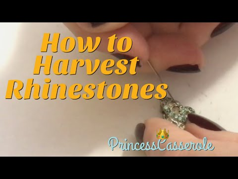 How To Harvest Rhinestones | Removing Rhinestones | Vintage Jewelry Repair (2018)