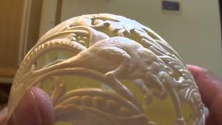 Резьба по скорлупе - Скорлупа дьявола .The shell of the devil(Ну вот и прорезал пустоты на скорлупе ..... сейчас самое сложное осталось - доводка до ума Мой сайт http://konstantinnet...., 2013-06-23T11:34:33.000Z)