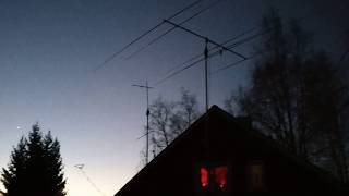 UFO seen this morning standing over Southern Finland.