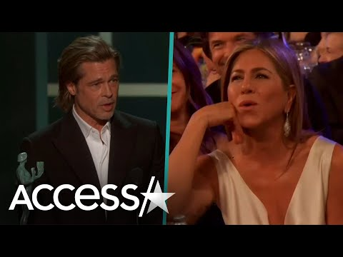 Jennifer Aniston's Reaction To Brad Pitt Joking About Marriage In SAG Speech Is Priceless