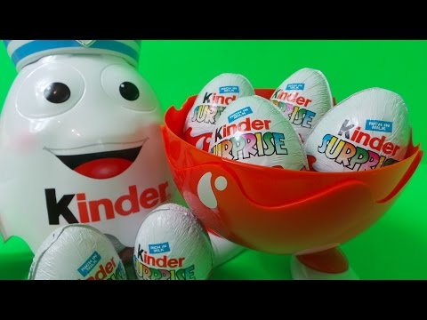Giant Kinder Surprise Sailor from Duty Free Toy Egg Opening