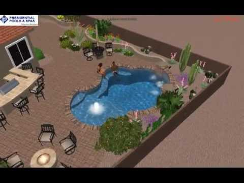 Custom backyard design by noah ingegneri of presidential for Pool design tucson