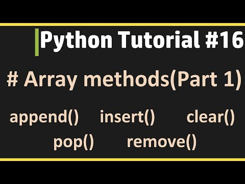 Array Methods(Part 1) - Python Tutorial #16 thumbnail