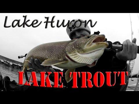 Lake Huron Kayak Fishing: Lake Trout Frenzy