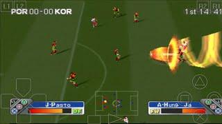 PORTUGAL vs KOREA - Super Shot Soccer - ePSXe Android Gameplay