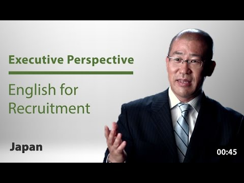 Globalizing Japan: Using English for Recruitment