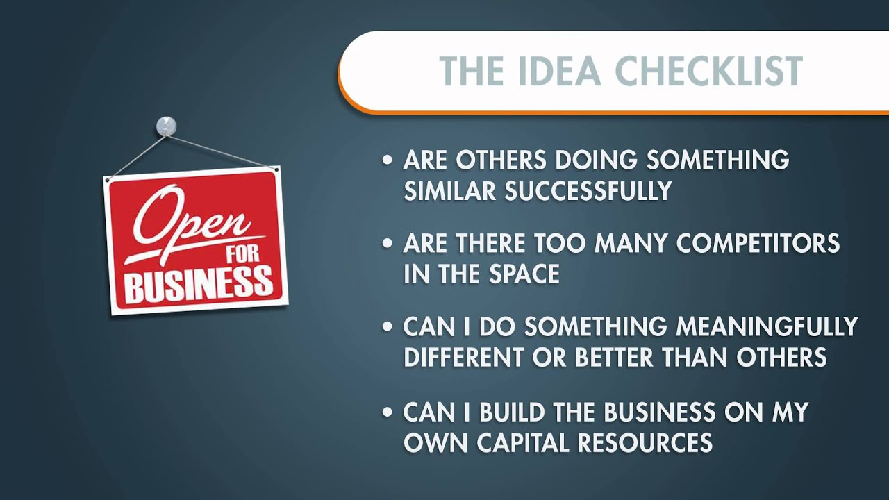 how to start a business checklist