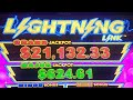☇Lightning Link☇ MAJOR JACKPOT WIN More Great Wins LIVE