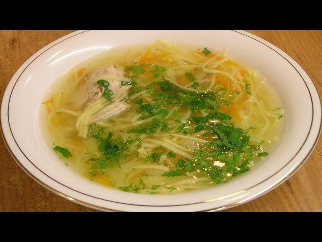 Суп с лапшой / Chicken noodle soup ♡ English subtitles