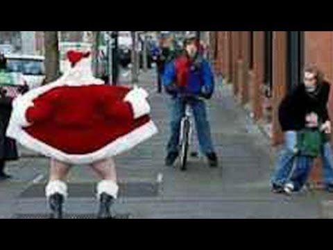 Santa's Pants Drop In Front 100's Of Children