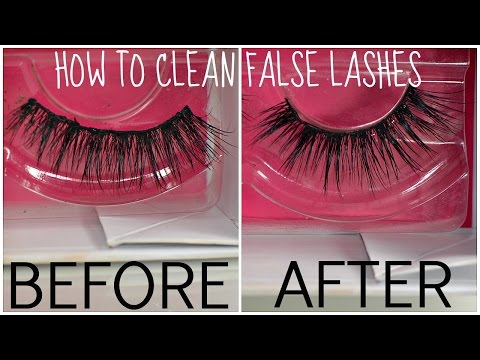 Makeup Basics - | - How To Clean False Lashes