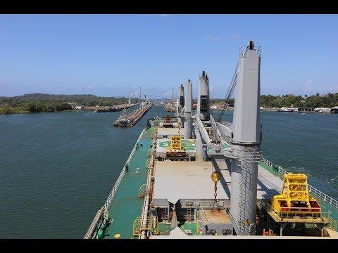 Panama Canal - MV Aeriko Transiting