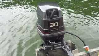 Johnson 30 Hp On 1448 Aluminum Boat.