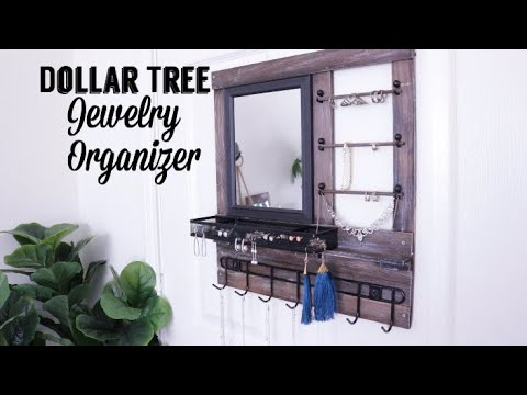 Dollar Tree DIY Wood Jewelry Organizer