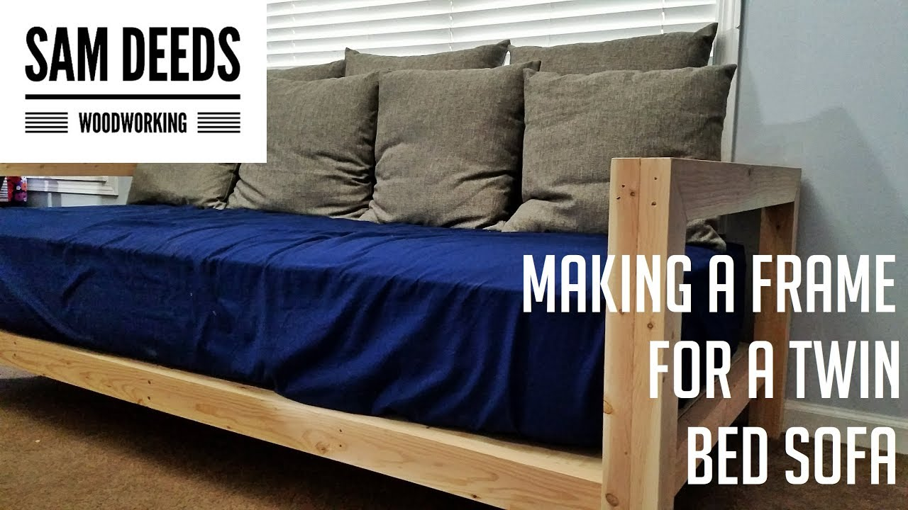 Turning A Twin Mattress Into A Sofa Youtube