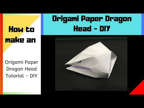 How to make an Origami Paper Dragon Head Tutorial   Best Origamis   DIY  