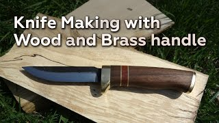 Knife Making With Wood And Brass Handle