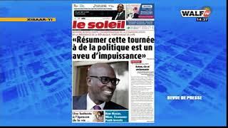 La revue presse lue et commentée en wolof  par Abdoulaye Bob