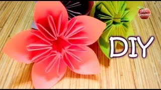 Repeat youtube video How to Make an Origami Flower for Kusudama (Flower Ball) - cone paper flower