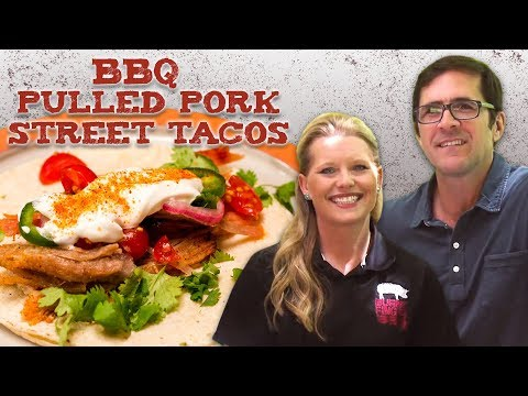 Pulled Pork Street Tacos With Zesty Lime Crema | BBQ&A | Southern Living