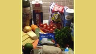 Рыбная лазанья/Recipe of fish lasagna.