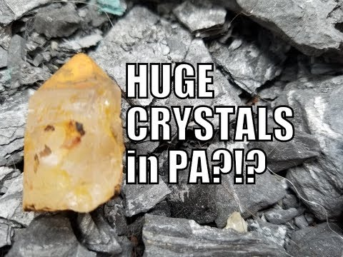 Crystal Collecting At An Abandoned PA Coal Mine