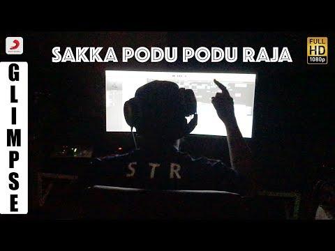 Sakka Podu Podu Raja - Glimpse of Song Recording | STR | Santhanam | VTV Ganesh