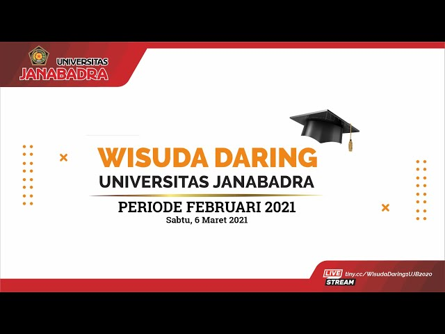 Wisuda Daring Universitas Janabadra Periode Februari 2021 (HD 1080p60)