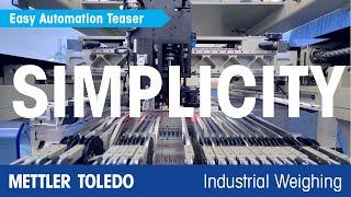 Automatización rápida y sencilla de METTLER TOLEDO con componentes de pesaje integrados - es