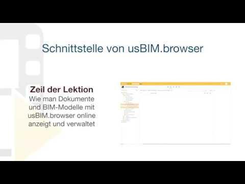 Tutorial von usBIM.platform ONE - Schnittstelle von usBIM.browser - ACCA software thumbnail