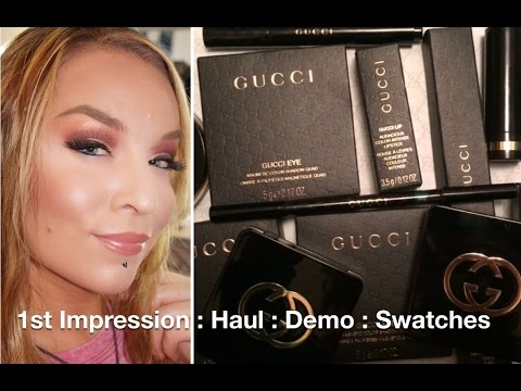 Haul : Demo : Gucci Beauty / Makeup / Cosmetics