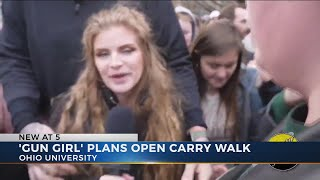 'Gun girl' Kaitlin Bennett says she plans open carry walk at Ohio University