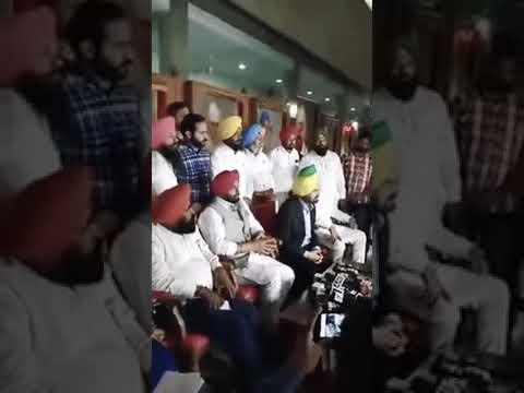 AAP punjab press conference after Chandigarh meeting regarding Kejriwal apology to Bikram majitha