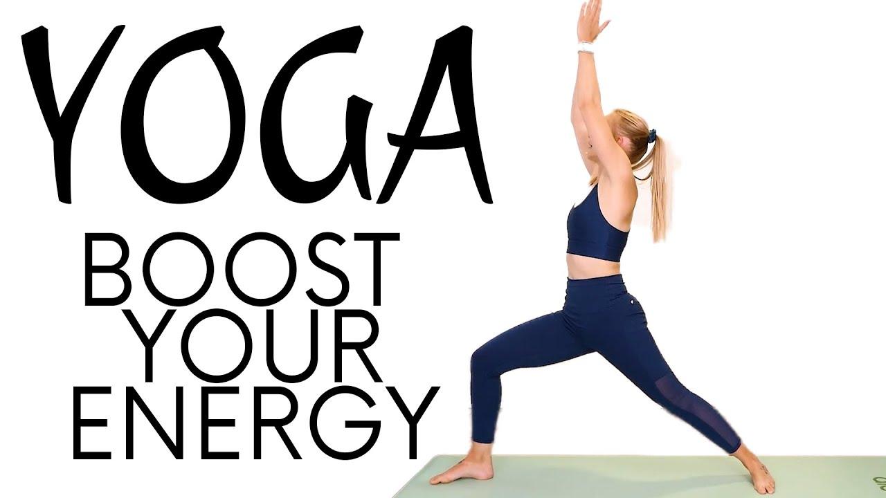 Energy Boosting Yoga Flow | 30 Minute Beginners Yoga with Olivia