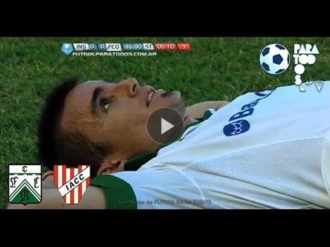 Chiarini atajó un penal a Correa. Instituto 0 - Ferro 0. Fecha 19. Torneo Primera B Nacional 2013.