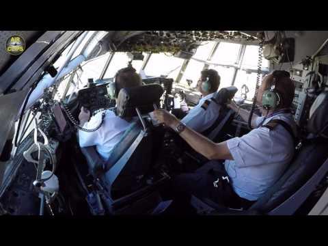 Gentlemen's Club! Hercules L100-30 (C-130/L-382G) Cockpit Takeoff: Safair, Johannesburg [AirClips]