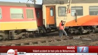Maroc : Violent accident de train près de Mohammedia