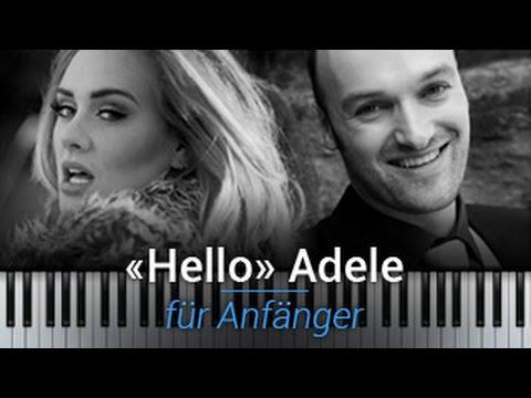 Adele Hello Klavier Tutorial deutsch - Klavier lernen für Anfänger - Hello Akkorde lernen