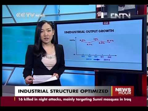 Sub-anchor: China's industrial structure optimized